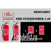 148001 HADmodels 1/48 Дополнение к модели Fire extinghuiser