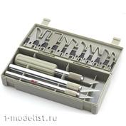 4023 Jas Набор профессиональных ножей с цанговым зажимом, 22 предмета