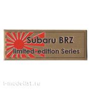 Т305 Plate Табличка для Subaru BRZ Limited Edition Series 80х30 мм, цвет золото