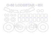 72514 KV Models 1/72 Набор окрасочных масок для Lockheed C-60 Lodestar + маски на диски и колеса