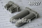 AMC48027 Advanced Modeling 1/48 РБК-500 АО-2,5 РТМ, разовая бомбовая кассета калибра 500 кг в снаряжении осколочными боевыми элементами. (в комплекте две РБК-500).