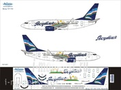737-007 Ascensio 1/144 Декаль на боенг 737-700 (Transaero)