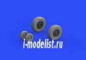 648304 Eduard 1/48 Дополнение для F-14A колёса ранний вариант