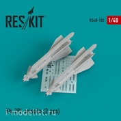 RS48-0102 RESKIT 1/48 Авиаракета Х-29Л для Су-17/24/25/30/34/39, МuГ-27, Як-130, Mirage F1 (2 шт.)