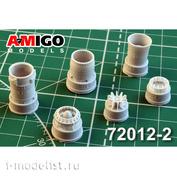AMG72012-2 Amigo Models 1/72 MiGG-21CM/MF/PD Jet nozzle of the R13-300 engine