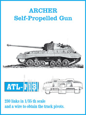 Atl-35-113 Friulmodel 1/35 Траки железные для Archer Self-Propelled Gun