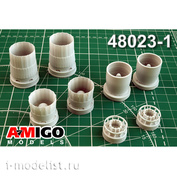 AMG48023-1 Amigo Models 1/48 Суххой-27 (Суххой-33/34) Реактивное сопло двигателя АЛ-31Ф