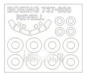 14370 KV Models 1/144 Набор окрасочных масок для Boeing 737 -800 + маски на диски и колеса