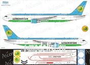 76F-007 Ascensio 1/144 Декаль на самолет боенг 767-300F (Uzbekistan Airways CARGO)