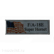 T332 Plate Plate for F/A-18E Super Hornet 60x20mm, color Silver (Flag)