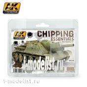 AK138 AK Interactive Набор акриловых красок CHIPPING ESSENTIALS WEATHERING SET
