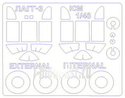 48015-1 KV Models 1/48 Маска для самолета Лагг-3 (Двусторонние маски) + маски на диски и колеса
