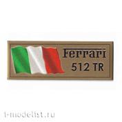Т304 Plate Табличка для Ferrari 512 TR 80х30 мм, цвет золото