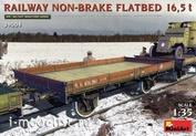 39004 MiniArt 1/35 Railway flatbed 16.5 t