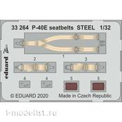 33264 Eduard 1/32 Фототравление для P-40E стальные ремни