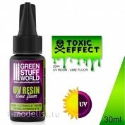 2094 Green Stuff World Ультрафиолетовая смола - Эффект токсичной среды 30 мл / UV Resin 30ml - Toxic Effect