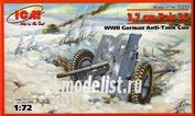 72251 ICM 1/72 3,7 cm Pak 36 WWII German Anti-Tank Gun