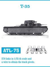 Atl-35-75 Friulmodel 1/35 Траки железные для танка T-35