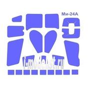 72215 KV Models 1/72 Набор окрасочных масок для остекления модели Мйль-24А