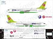 738-011 Ascensio 1/144 Scales the Decal on the plane Boeng 737-800 (OPE wold)