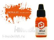 F125 Pacific88 Acrylic paint Orange (Orange) Volume: 10 ml.