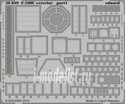 48639 Eduard 1/48 Фототравление F-100C exterior