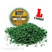 9070 Green Stuff World Комки листвы кустарника - тёмно-зелёные, 180 мл / Tree Bush Clump Foliage - Dark Green - 180 ml