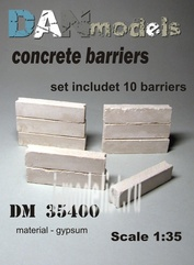 DM35400 DANmodel 1/35 Набор бетонных заграждений