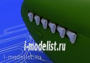 648099 Eduard 1/48 Набор дополнений Spitfire exhaust stacks fishtail