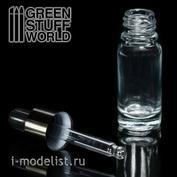 9760 Green Stuff World Пустая стеклянная банка с пипеткой 10 мл