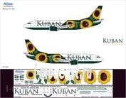733-004 Ascensio 1/144 Декаль на самолет боенг 737-300 (Авакомпания Кубань)