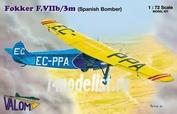 72064 Valom 1/72 Fokker F.VIIb/3m (Spain, Croatia)