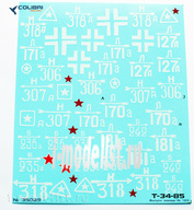 35029 ColibriDecals 1/35 Decal for T-34-85 plant 183 (2 GW TC) Part I