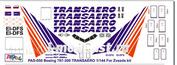 pas050 PasDecals 1/144 Decal Boeing 767-300 Transaro (for model