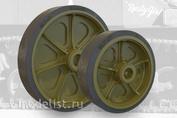 35002 Fury Models 1/35 Набор дополнений приварные колесные диски с глухими отверстиями для танка M3 / M3A1 / M5