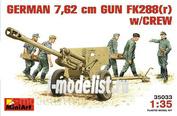 35033 MiniArt 1/35 German 7.62 cm Gun Fk288(r) with calculation