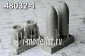 AMC48032-1 Advanced Modeling 1/48 Зажигательная авиабомба калибра 500 кг с носовым обтекателем ЗАБ-500Ш (в комплекте две бомбы)