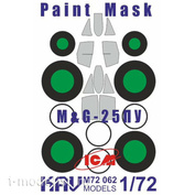 M72 062 KAV models 1/72 Окрасочная маска на остекление MuGG-25ПУ