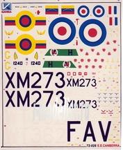 72026 Kanga 1/72 Декаль на самолет English Electric Canberra B(1) Mk8/88