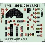 3DL48010 Eduard 1/48 3D Декаль для P-38G SPACE