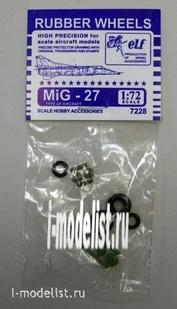 7228 Elf Productions 1/72 Колеса резиновые МuГ-27