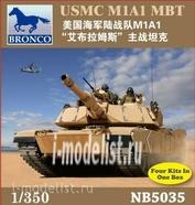 NB5035 Bronco 1/350 USMC M1A1 MBT