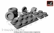 AW48026 Armory 1/48 Set of wheel extensions for MiG-31 wheels with weighted tires