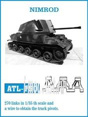 ATL-35-150 Friulmodel 1/35 Траки железные для NIMROD