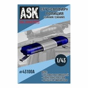 ASK43100A All Scale Kits (ASK) 1/43 SSU Sapphire Police (Blue/Blue)