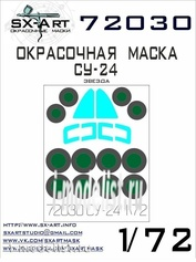 72030 SX-Art 1/72 Paint mask su-24 (Zvezda)