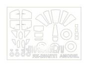 72095 KV Models 1/72 Набор окрасочных масок для остекления модели Як-28ПП / И / ИМ + маски на диски и колеса