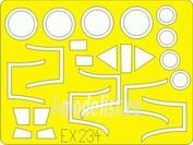 EX234 Eduard 1/48 Маска для Gannet