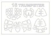 14349 KV Models 1/144 Набор окрасочных масок для Туплев-16