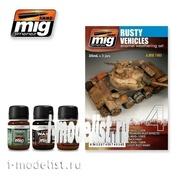 AMIG7403 Ammo Mig RUSTY VEHICLES Set (Rust on the technique)